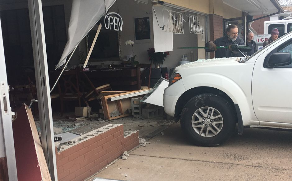 A car crashed into a nail salon on East Center Street Thursday morning. | Courtesy of Keri Logan