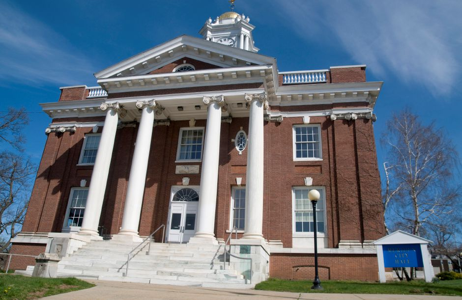 City Hall in Meriden, April 3, 2012. (Sarah Nathan/Record-Journal)