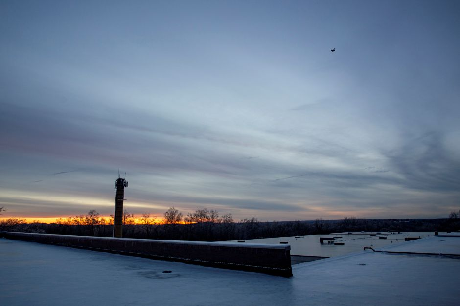 The sun sets on a chilly Tuesday evening Jan. 22, 2019. | Richie Rathsack, Record-Journal