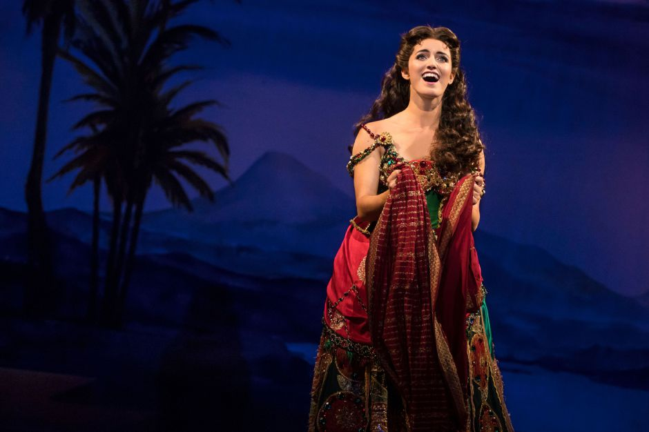 "Eva Tavares as 'Christine Daaé' performs ""Think of Me"" in ""The Phantom of the Opera."" Photo: Matthew Murphy"