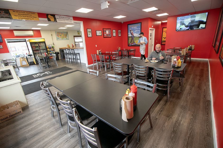 The newly expanded K. LaMay's Steamed Cheeseburgers, 690 E. Main St., in Meriden on Wednesday.