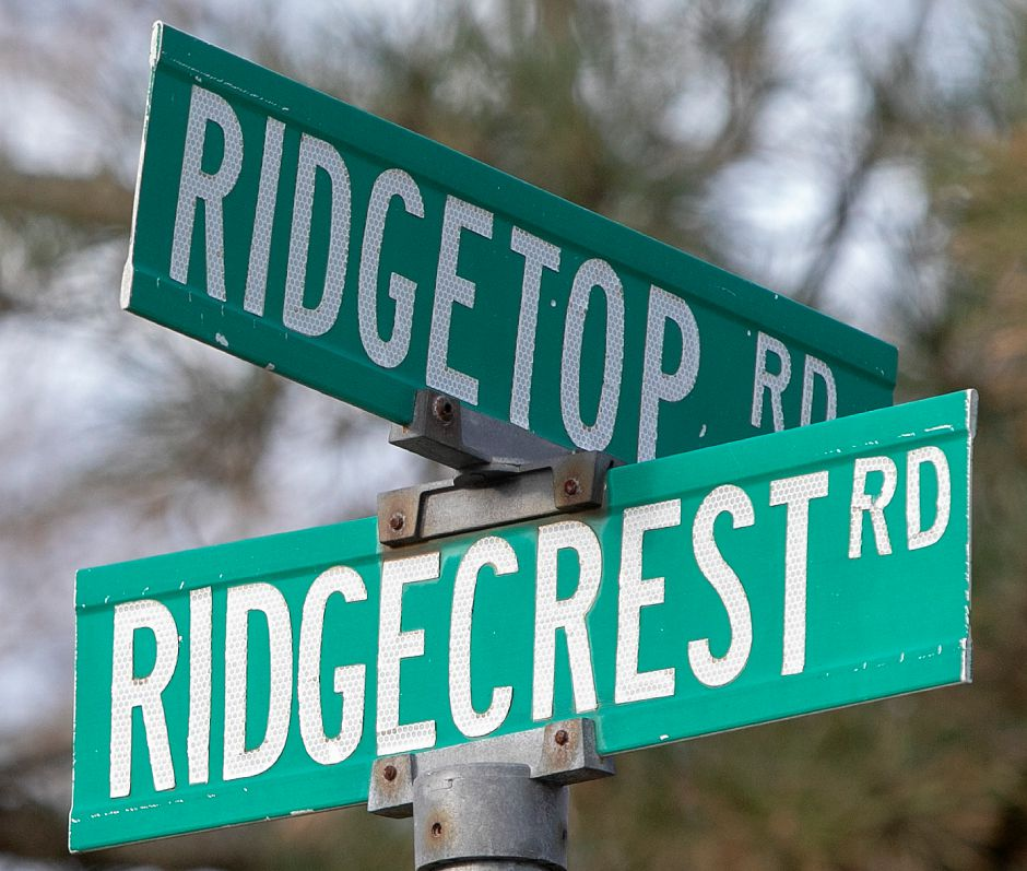 Street signs for Ridgetop and Ridgecrest roads in Wallingford, Wednesday, Nov. 28, 2018. Dave Zajac, Record-Journal