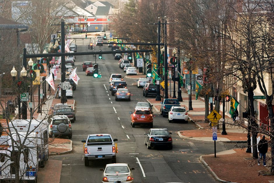 View of West Main Street in downtown Meriden. | Dave Zajac, Record-Journal