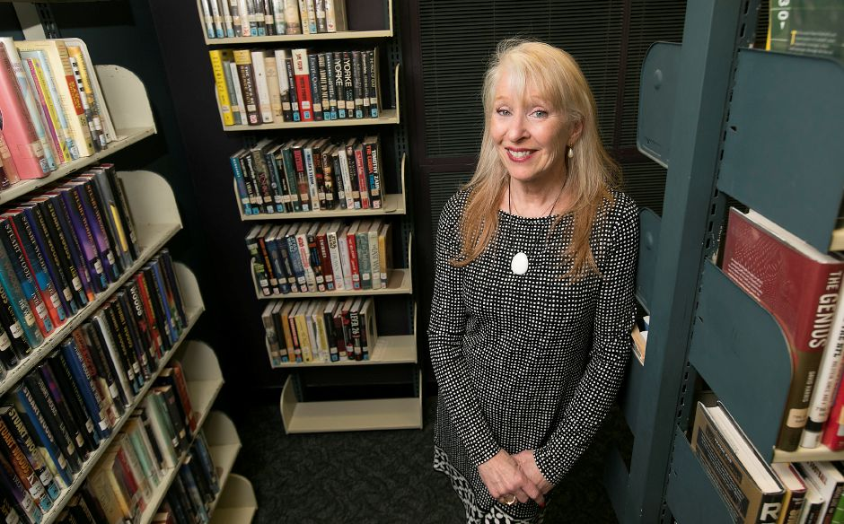 Sue Smayda, executive director, is retiring from the Southington Public Library, Tuesday, May 1, 2018. Smayda