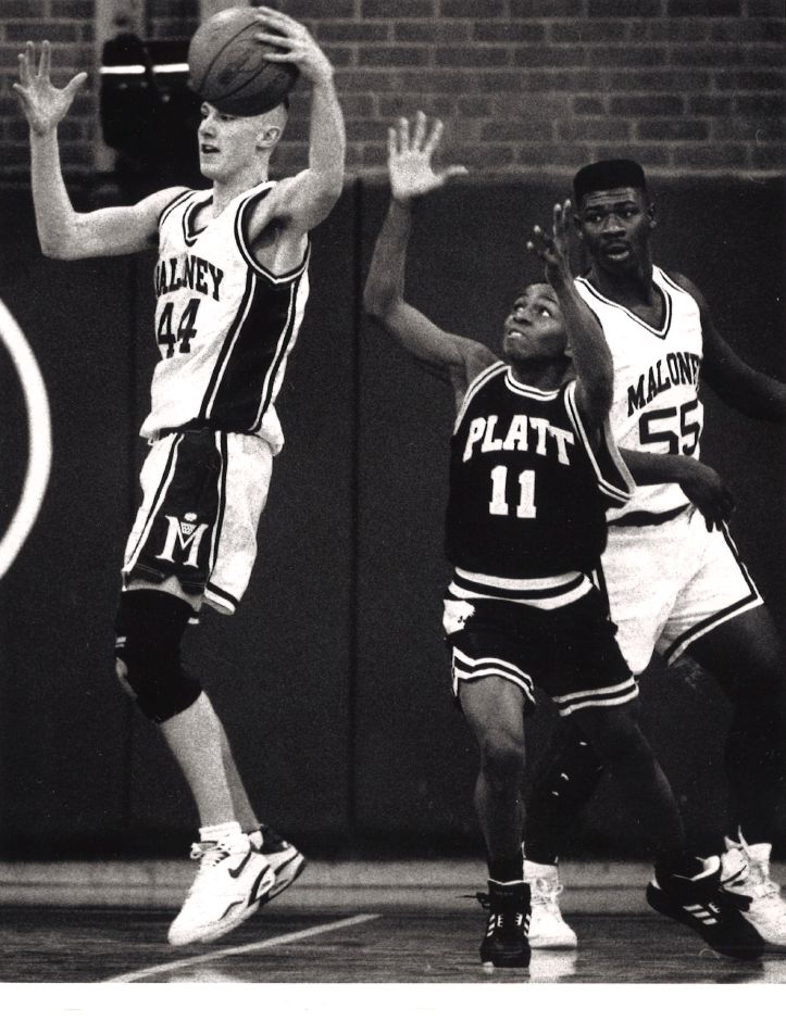 Maloney-Platt boys basketball. 1993.