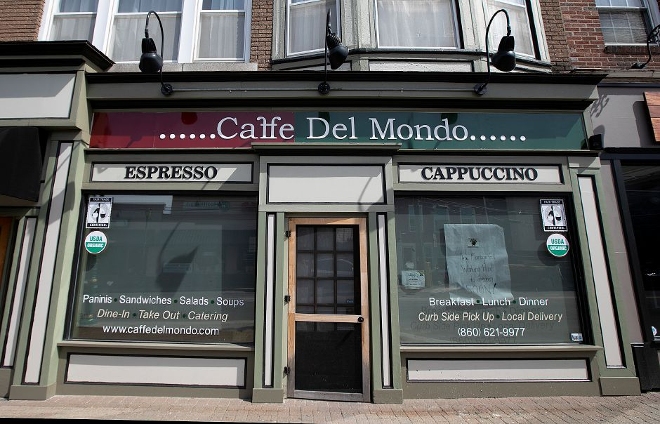 Caffe Del Mondo, 51 N. Main St., Southington, Thurs., Mar. 28, 2019. The business has been closed since the beginning of the year. Dave Zajac, Record-Journal