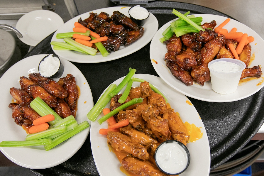 Varieties of wings at J.Timothy's Taverne in Plainville, Wed., Jan. 23, 2019. Dave Zajac, Record-Journal