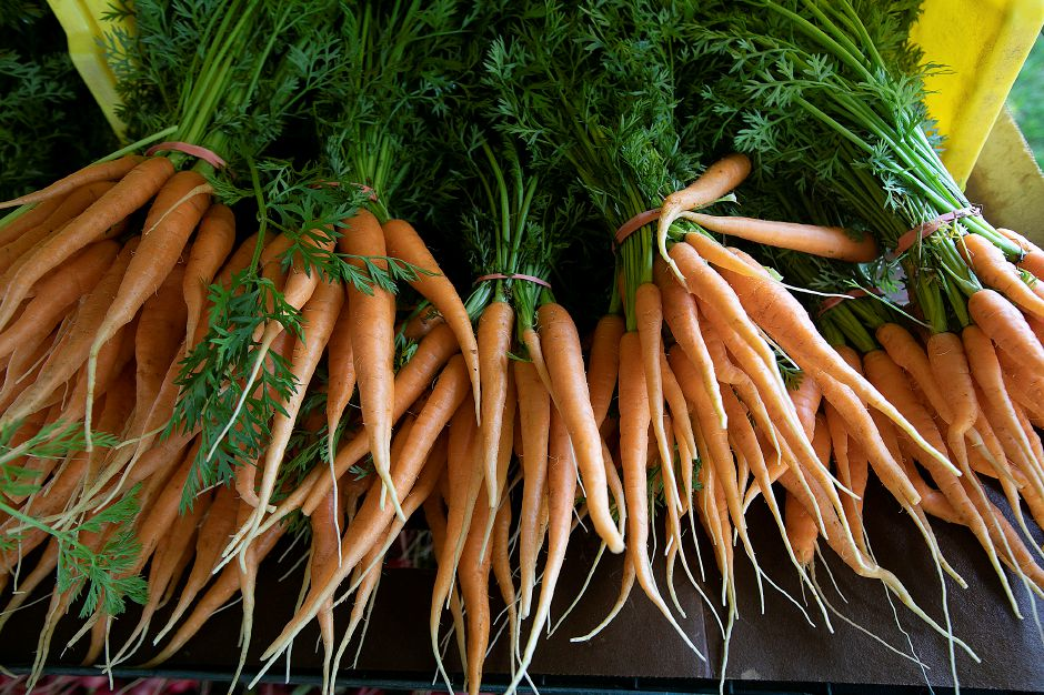 Carrots from Gresczyk Farms of New Hartford.