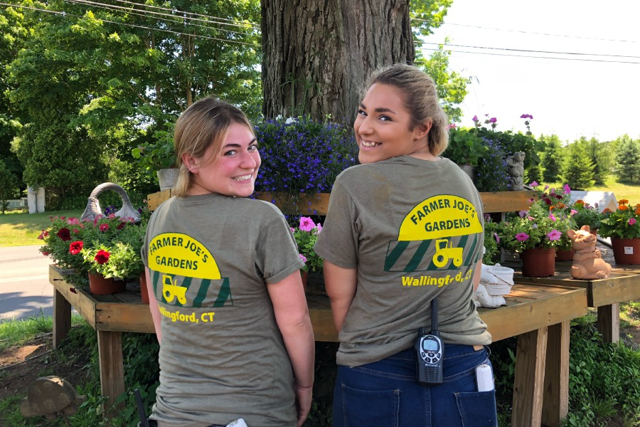 Nicole Ungvary, right, and Madyson Savenelli, left, employees of Farmer Joe's in Wallingford. Photos by Kristen Dearborn, contributed