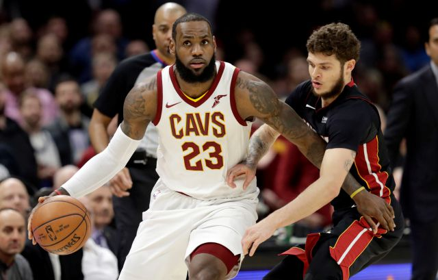 FILE - In this Wednesday, Jan. 31, 2018 file photo, Cleveland Cavaliers