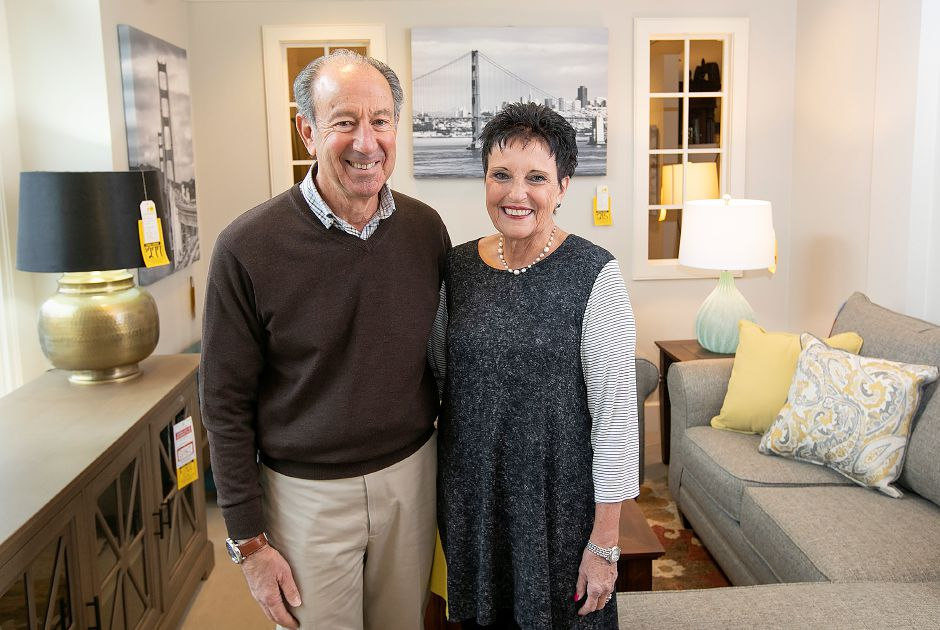 Fred and Sylvia Reich are closing Furniture Barn in Cheshire after 52 years. Dave Zajac, Record-Journal