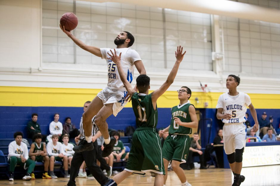 John Soto scored a game-high 22 points in Wilcox Tech's 68-52 victory Tuesday night over North Haven in Meriden. It was the eighth straight win for the Indians (15-4). | Justin Weekes / Special to the Record-Journal
