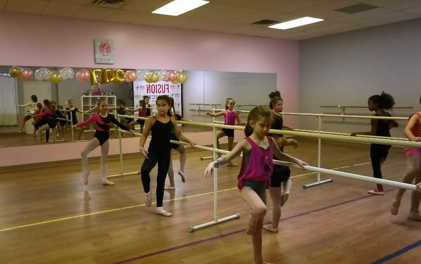 Ballet students rehearse for the Moscow Ballet