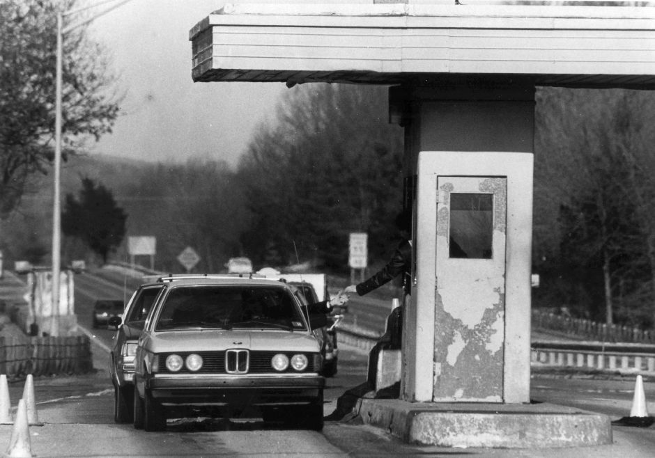 File photo - The toll booth in Wallingford along the Wilbur Cross Parkway from June 1988.