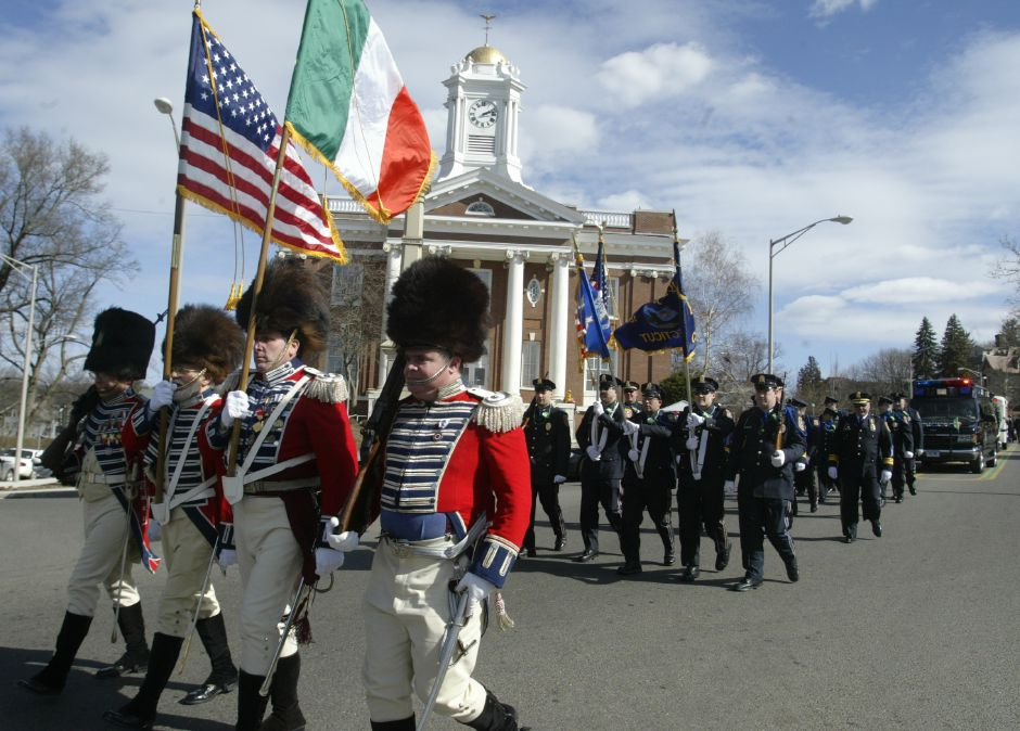 The Meriden Police Department leads the St. Patrick