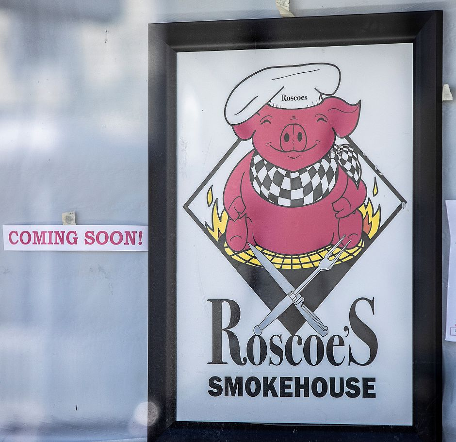 "A ""Coming Soon"" sign at Roscoe"