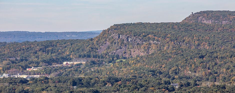 View of Castle Craig, top right, from Chauncey Peak in Meriden