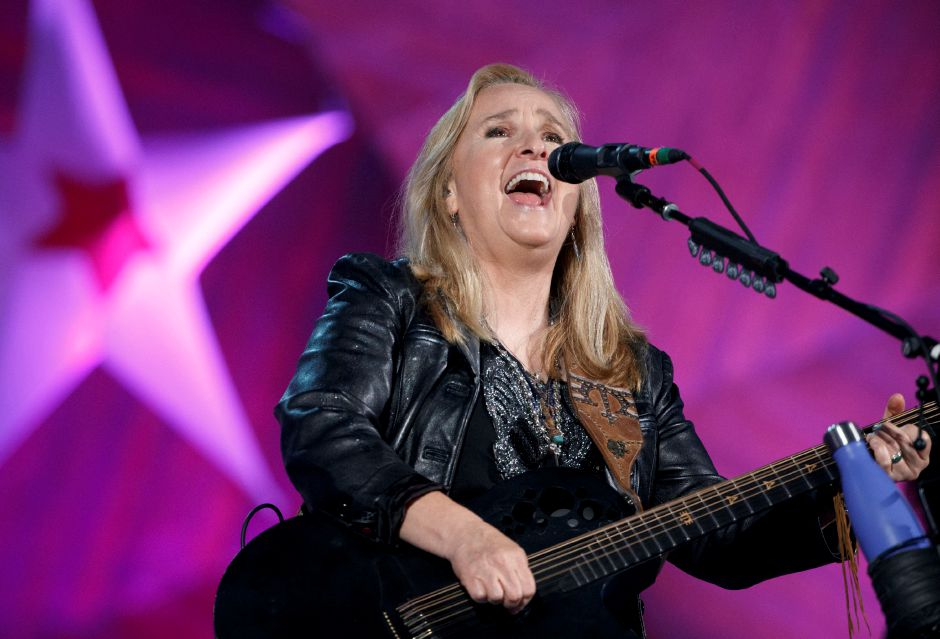 Melissa Etheridge performs during a rehearsal for the annual Boston Pops Fireworks Spectacular on the Esplanade, Monday, July 3, 2017, in Boston. (AP Photo/Michael Dwyer)