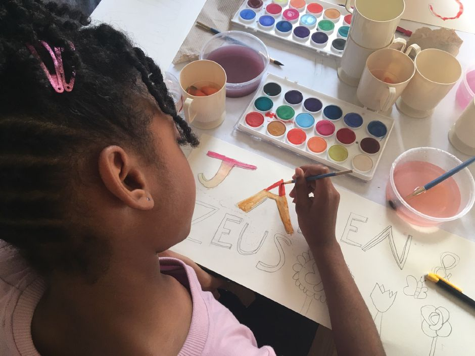 Our House Meriden is a nonprofit organization that provides afterschool art programs for local children. The program is located at the childhood home of the founder Catherine Del Buono at 17 North St., Meriden. Photo Courtesy of Catherine Del Buono.