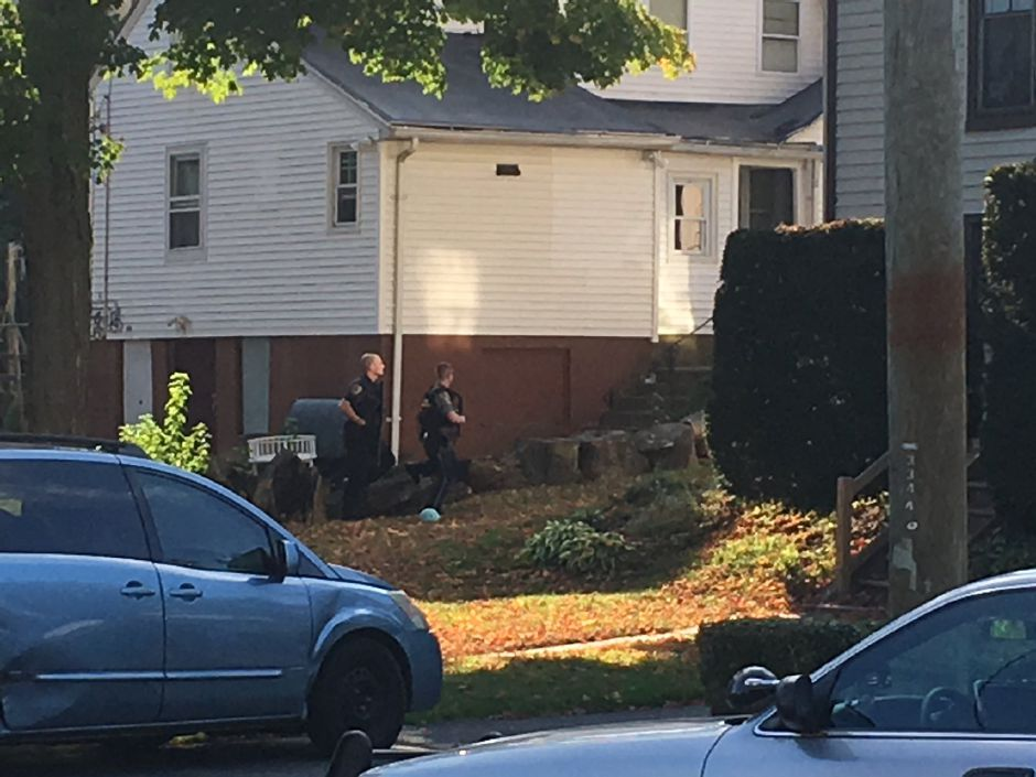 Police are investigating a report of shots fired on Curtis Street in Meriden Wednesday afternoon. | Ryan Chichester, Record-Journal