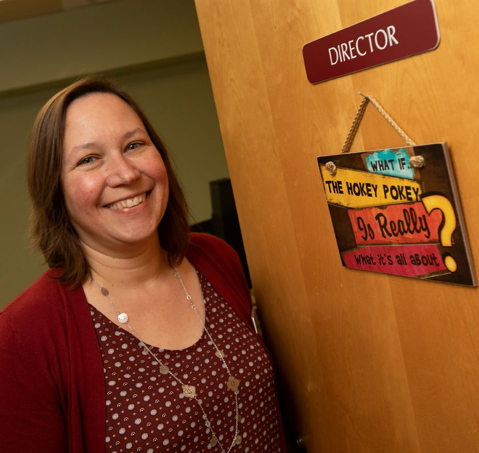 Beth Crowley is the new director of the Cheshire Public Library, Mon., Oct. 15, 2018. Dave Zajac, Record-Journal