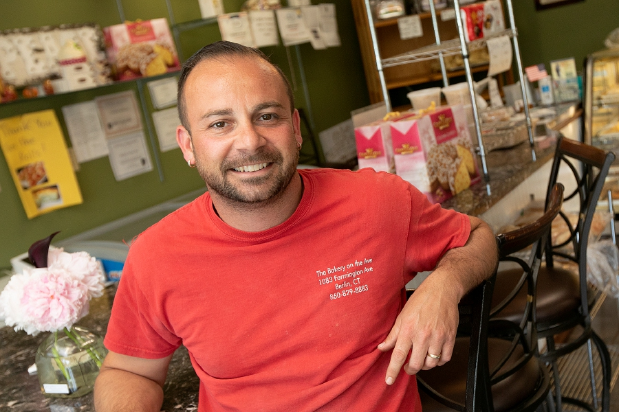 Enzo Formica, owner of The Bakery On The Ave. in Berlin,  is planning to open another location on Center Street in Southington downtown next month. Dave Zajac, Record-Journal