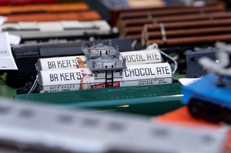 A model railcar on sale at the Classic Shows Model Railroad show at Zandri