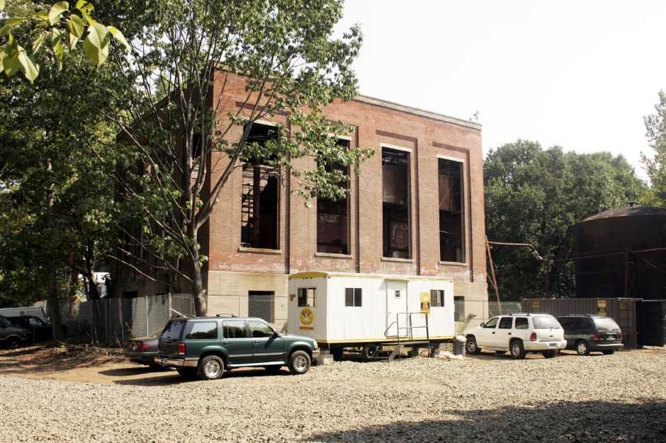 Exterior of the power house for the former Factory H off Cherry St. in Meriden Mon., Sept. 12 after being cleaned of asbostos, broken windows, and other debris by Fleet Environmental Services LLC of Berlin.
