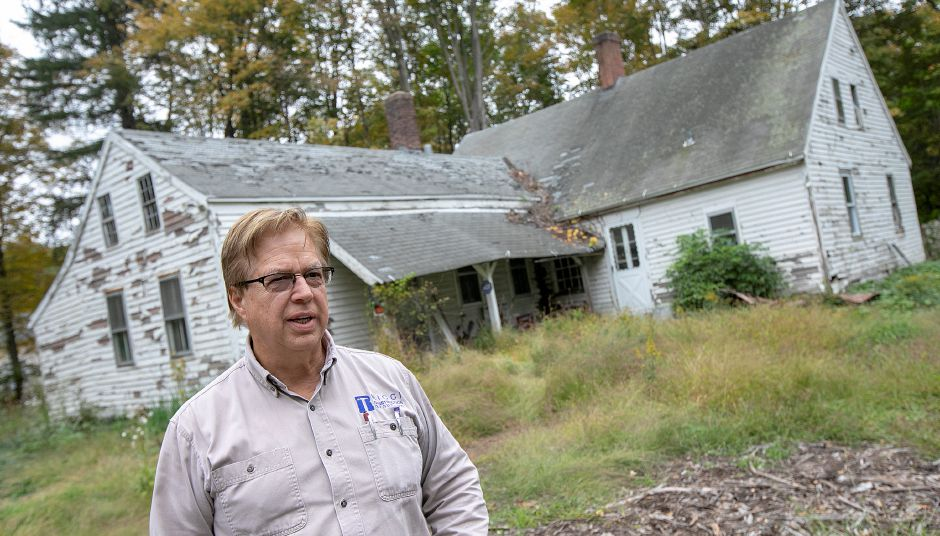 Local developer John Ricci talks about the Nathaniel Ives house at 257 Fenn Rd. in Cheshire, Monday, Oct. 8, 2018. Ricci is owner of the house built around 1749 and is considering how to develop the 50-acre property. Dave Zajac, Record-Journal