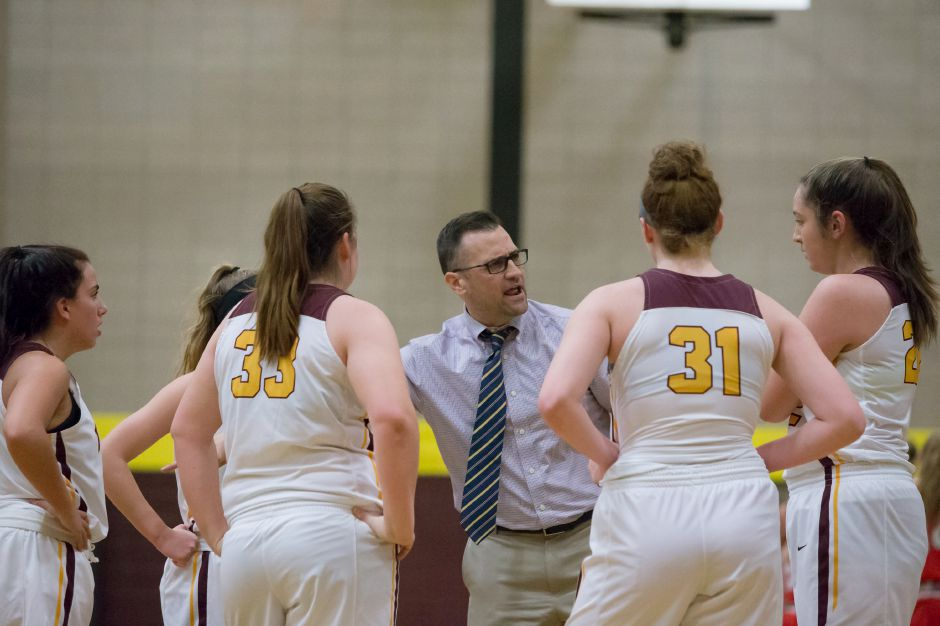 Sheehan's Mike Busillo was named this season's girls basketball Coach of the Year in the Southern Connecticut Conference on Tuesday night. He leads his Titans into the CIAC Class M Tournament starting on Tuesday night at home against Waterford. Justin Weekes, Special to the Record-Journal
