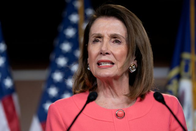 Speaker of the House Nancy Pelosi, D-Calif., speaks to the media at a news conference on Capitol Hill in Washington, Thursday, May 2, 2019. AP Photo/J. Scott Applewhite)