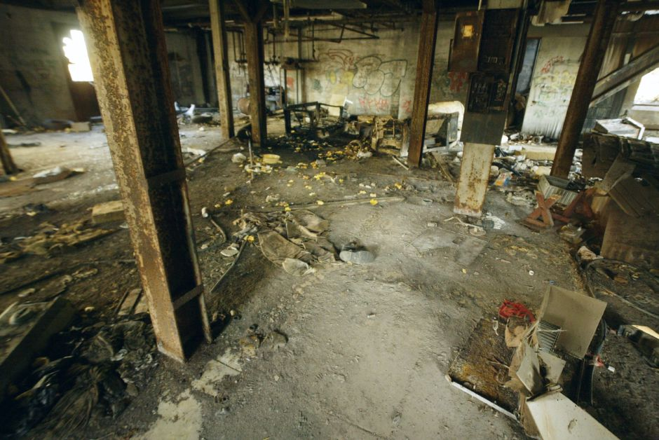 Interior of the former International Silver Co. Factory H power plant off Cherry St. in Meriden Thurs., Nov. 11. The site is open to anyone with no signs in evidence and no locked gates.