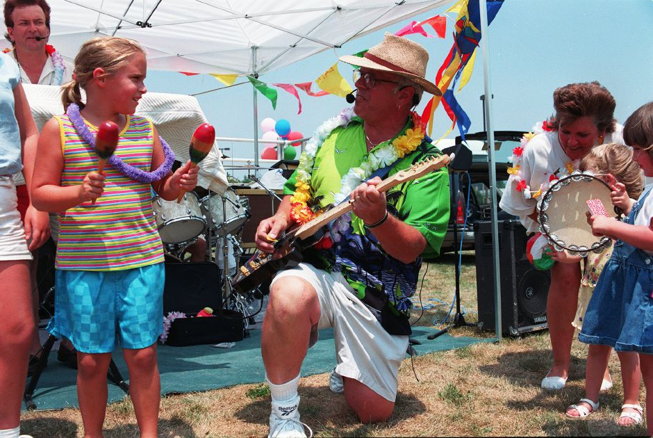 Ed Gerosa, the guitar player for The Key West Band entertains kids as well as adults during the Parks and Recreation Department