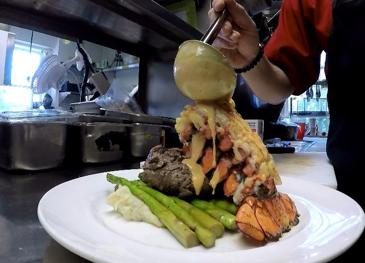 A lobster tail entree served at The Library Wine Bar Bistro, 60 N. Main St., Wallingford. |Ashley Kus, Record-Journal