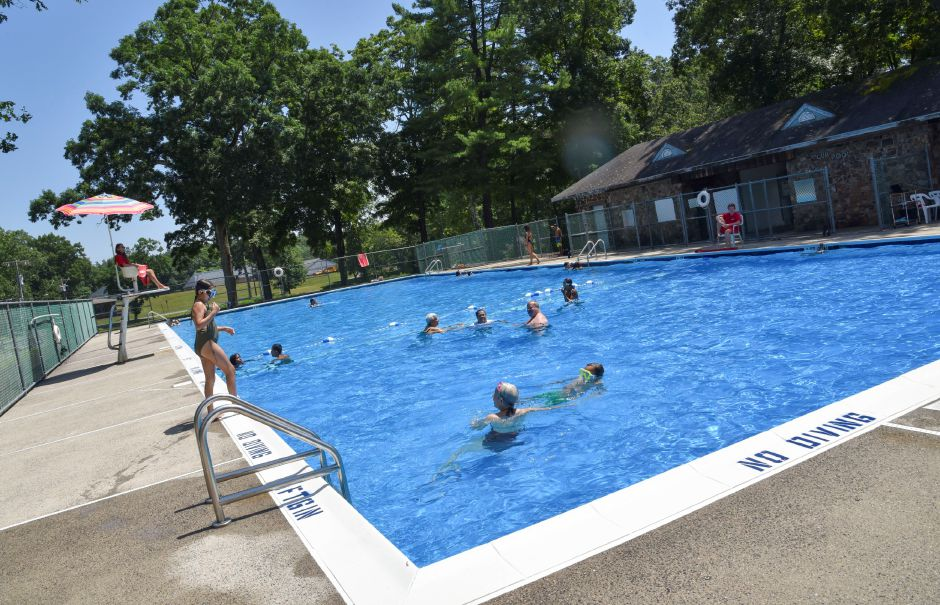 Families swim at the Hubbard Park Pool, 999 West Main St. in Meriden, on Friday, July 19, 2019. | Bailey Wright, Record-Journal