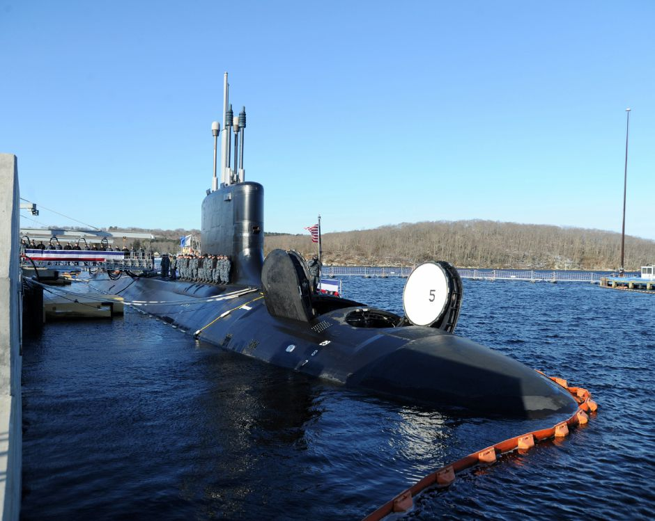 GROTON, Conn. (March 15, 2018) Pre-Commissioning Unit Colorado (SSN 788) sits pierside prior to commissioning March 17, 2018. Colorado is the the U.S. Navy