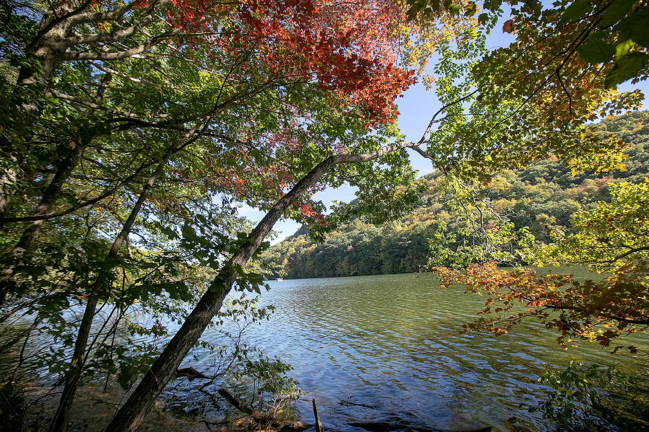 View of Crescent Lake along the blue trail at Giuffrida Park in Meriden, Friday, Oct. 19, 2018. Dave Zajac, Record-Journal