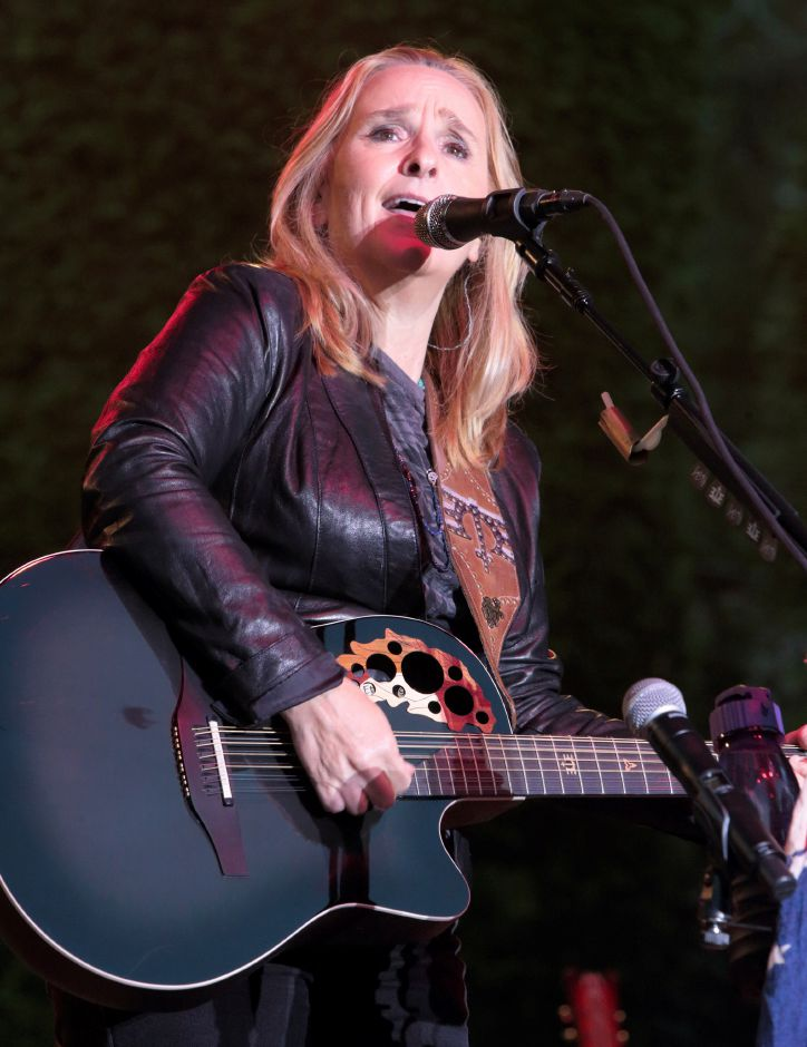 "Melissa Etheridge performs in during her ""This is M.E. Tour 2015"" at Longwood Gardens on Aug. 25, 2015, in Kennett Square, Pa. Associated Press"