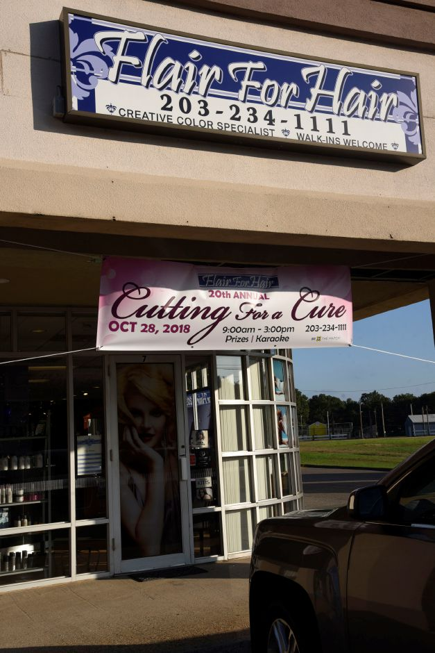 Flair for Hair in North Haven is offering complimentary hair treatments for cancer survivors through the month of October and will have their 20th annual Cutting for a Cure event on Oct. 28. | Bailey Wright, Record-Journal