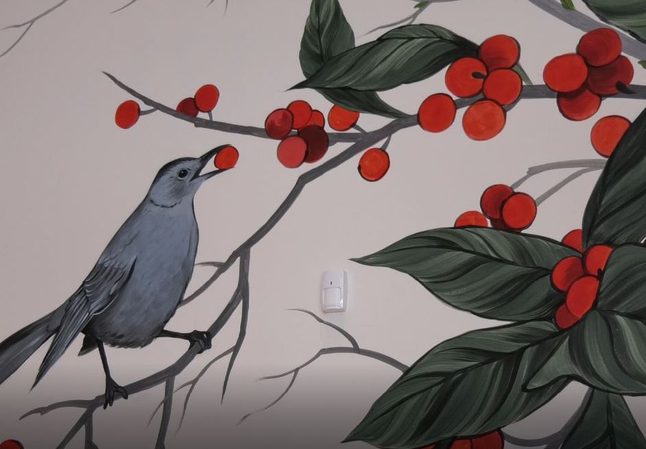 "The ""Winter Spring Summer Fall"" mural at New Britain Museum of American Art, 56 Lexington St., New Britain. 