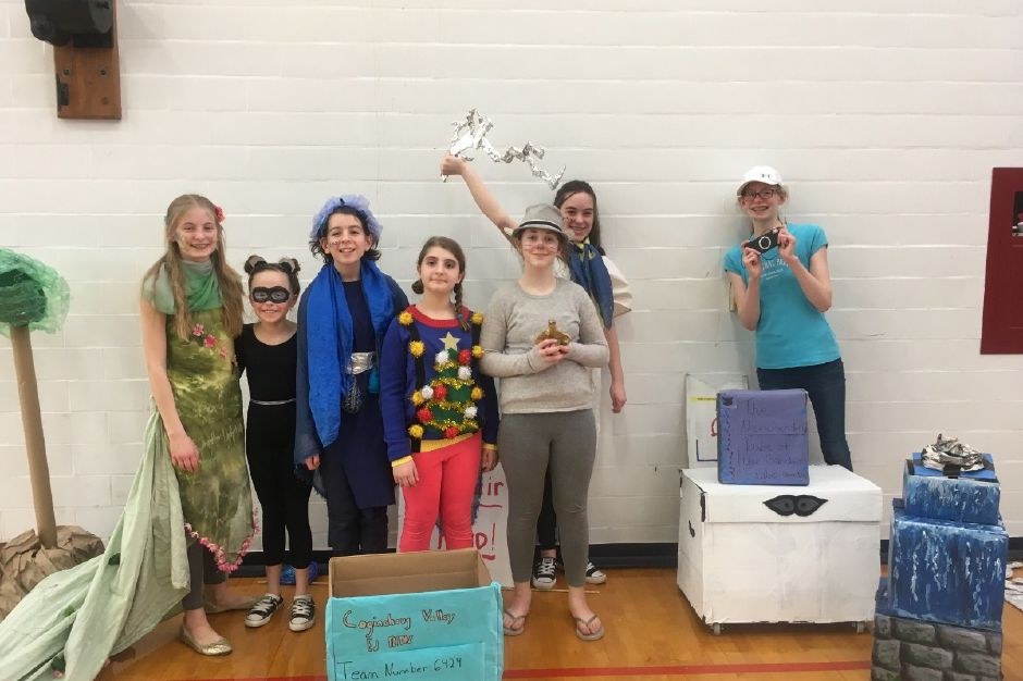 Odyssey of the Mind teams made up of students from Durham and Middlefield at previous 2019 competitions. | Photo Courtesy Odyssey of the Mind