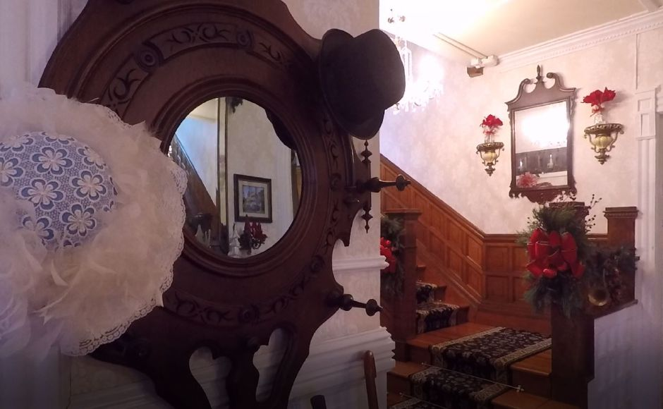 The front lobby of The Wallingford Victorian Inn, 245 N. Main St., Wallingford. |Ashley Kus, Record-Journal