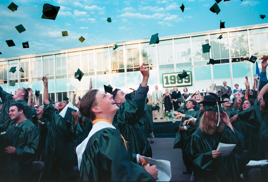 RJ file photo - Hats off to the 1999 graduates of Maloney High School June 23, 1999.