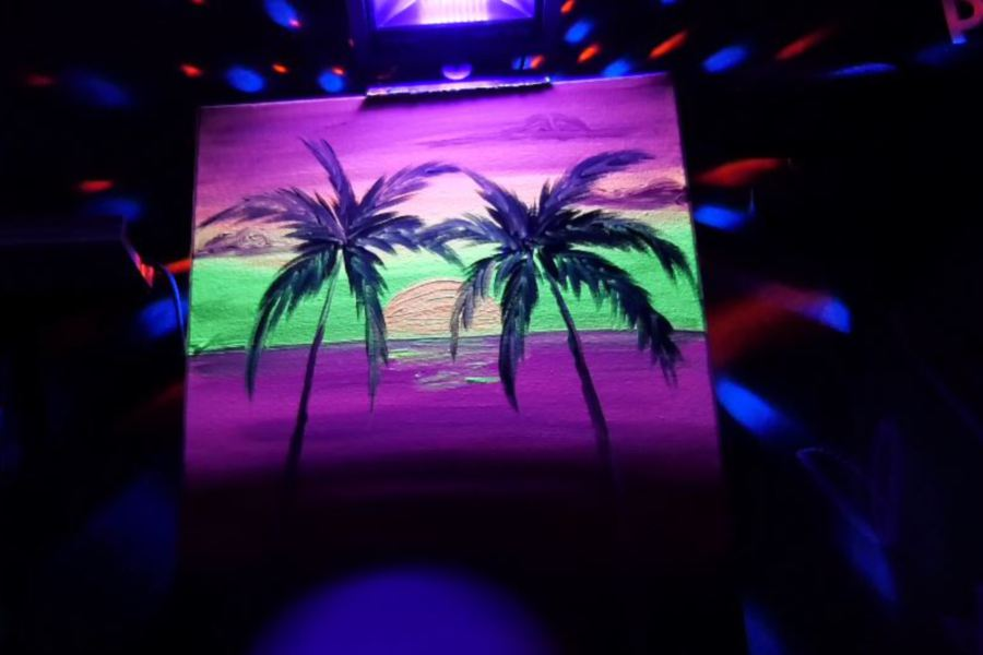 Glow paint nights are offered at Art Studio of Connecticut, 1850 West St., Southington.