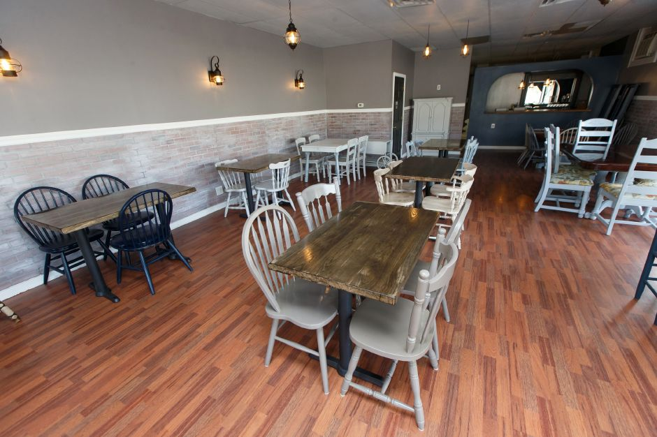 The main dinning area Wednesday at Arles and Boggs Vegan Eatery in Wallingford October 10, 2018 | Justin Weekes / Special to the Record-Journal