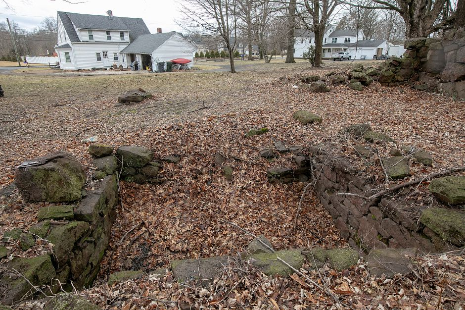The remains of an underground railroad stop on the former Curtiss farm on South End Road in Southington, Fri., Mar. 22, 2019. The remains will be preserved despite the planned construction of a subdivision nearby. Dave Zajac, Record-Journal