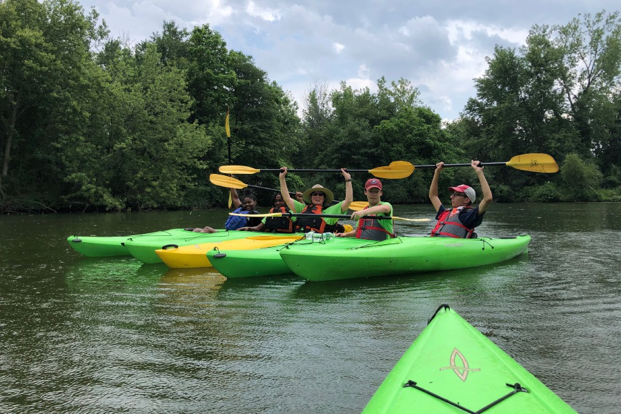 Kayak river tours on Community Lake in Wallingford. |Kristen Dearborn, Special to the Record-Journal