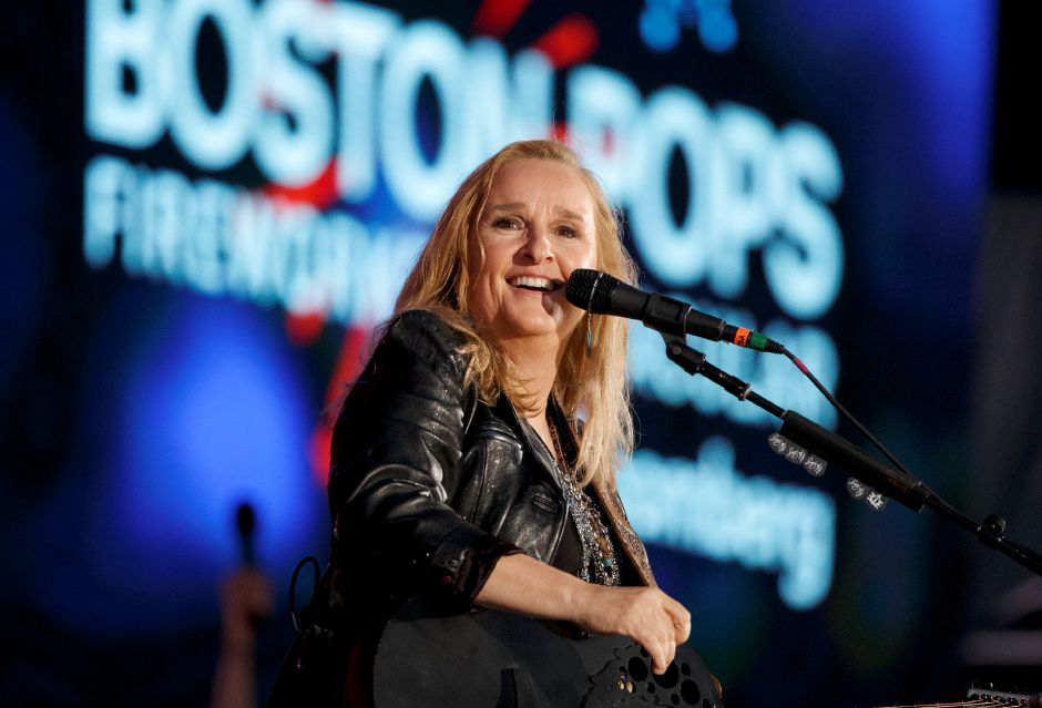 Melissa Etheridge performs during the annual Boston Pops Fireworks Spectacular on the Esplanade, Tuesday, July 4, 2017, in Boston. (AP Photo/Michael Dwyer)