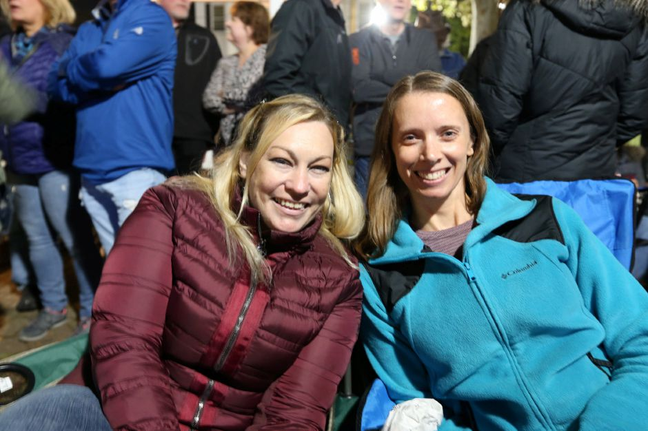 Darcie Fuller, left, and Renee Polletta stake out their spots in front of the main stage for the Spin Doctors concert at the annual Apple Harvest Festival in Southington on Saturday, Oct. 12, 2019. Emily J. Tilley, special to the Record-Journal.