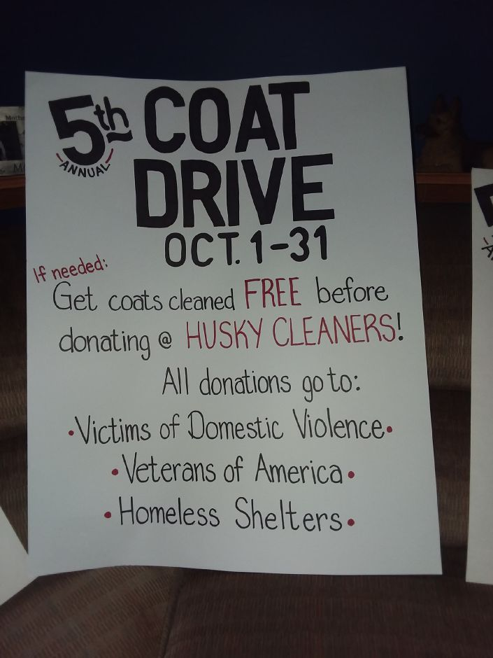 Signs that will be up around town giving information for an annual coat drive organized by town resident Debbie Zavarella and friends. | Photos Courtesy Debbie Zavarella